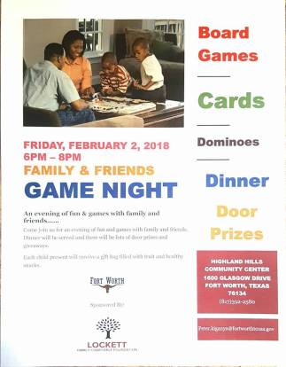 flyer game night