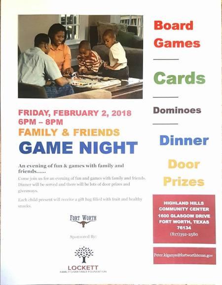flyer game night